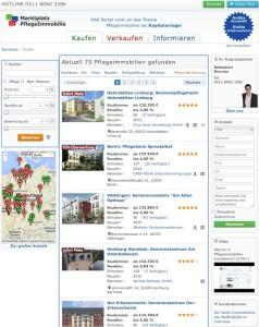 Quelle Novario – Screenshot Marktplatz Pflegeimmobilie