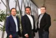 v.l.n.r.: Das USound Gründer-Trio Jörg mit Jörg Schönbacher, Andrea Rusconi-Clerici und Ferruccio Bottoni.Foto: Robert Frankl