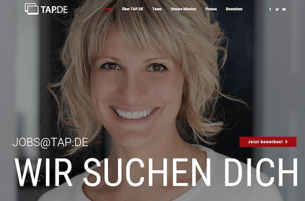 TAP.DE launcht eigenes Jobportal