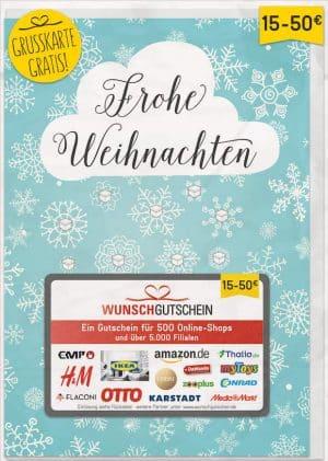 Geschenkgutscheine: das beliebteste Geschenk der Deutschen zu Weihnachten